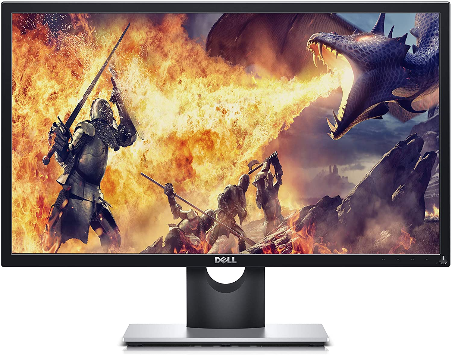 Dell SE2417HGX 23.6 Inch TN, Anti Glare, LED-Backlit Gaming Monitor (Black) 1 MS Reponse Time, FHD (1920 x 1080) at 60 Hz, Thin Bezel, 2xHDMI, VGA, Tilt and AMD Radeon FreeSync, 24