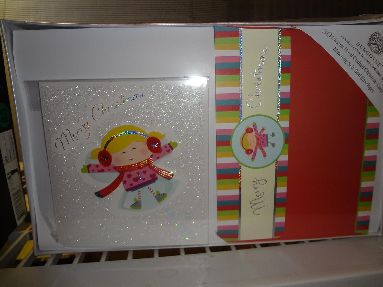 Amazon Com 30 Elegant Hand Craft Christmas Cards With Matching