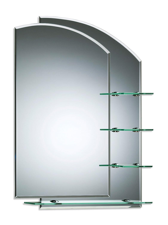 Neue Design Stylish Bathroom Mirror Double Layer With Shelves - 2 ...