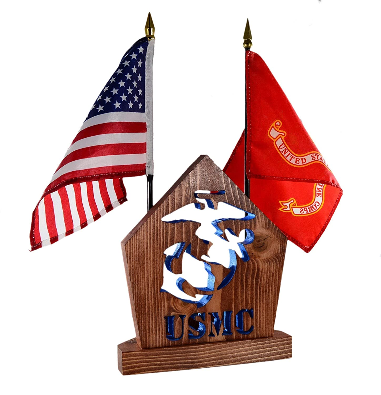 Personalized Gift Set for MARINE Veteran • Military Desk Set Gift • SEMPER FI ○ Desk Set for Him/Her ○ Armed Forces ○USMC Office Accessories ○ DogPound Creations
