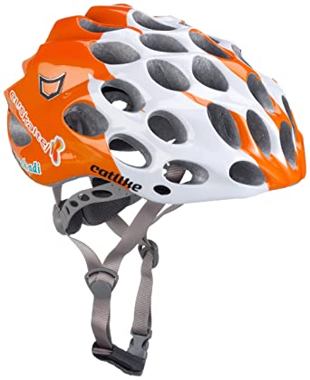 Catlike Whisper Plus - Casco de ciclismo Orange/White Talla:small
