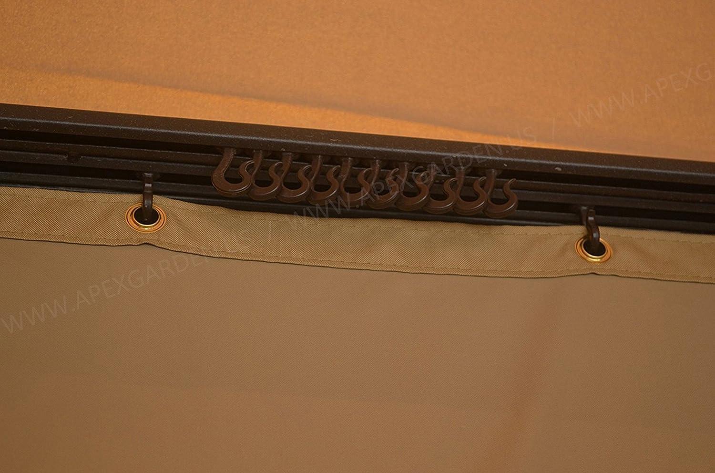 Amazon.com: APEX GARDEN Plastic Hooks for Gazebo Curtains and ...