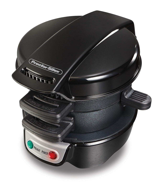 Proctor Silex 25481C Sandwich Maker, Black HAMILTON BEACH PROCTOR SILEX