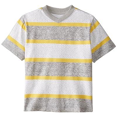 C Life Group Little Boys V Neck Roller Printed Orange And Grey Stripe