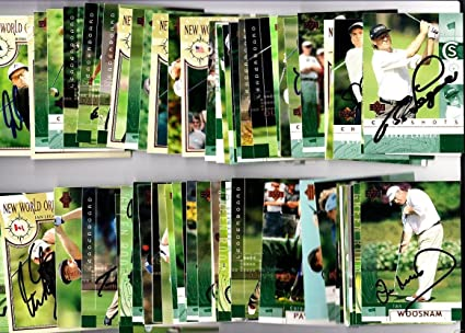 77 signed auto 2002 golf cards Gary Player Langer OMeara Price Weir - Upper Deck Certified - Autographed Golf Cards at Amazons Sports Collectibles Store