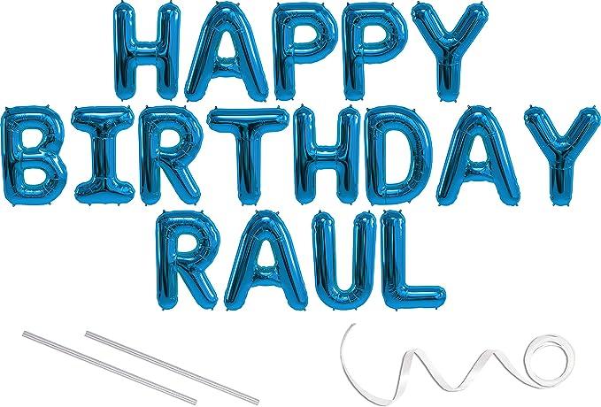 Amazon.com: Banner para globos de Mylar de Raul, feliz ...