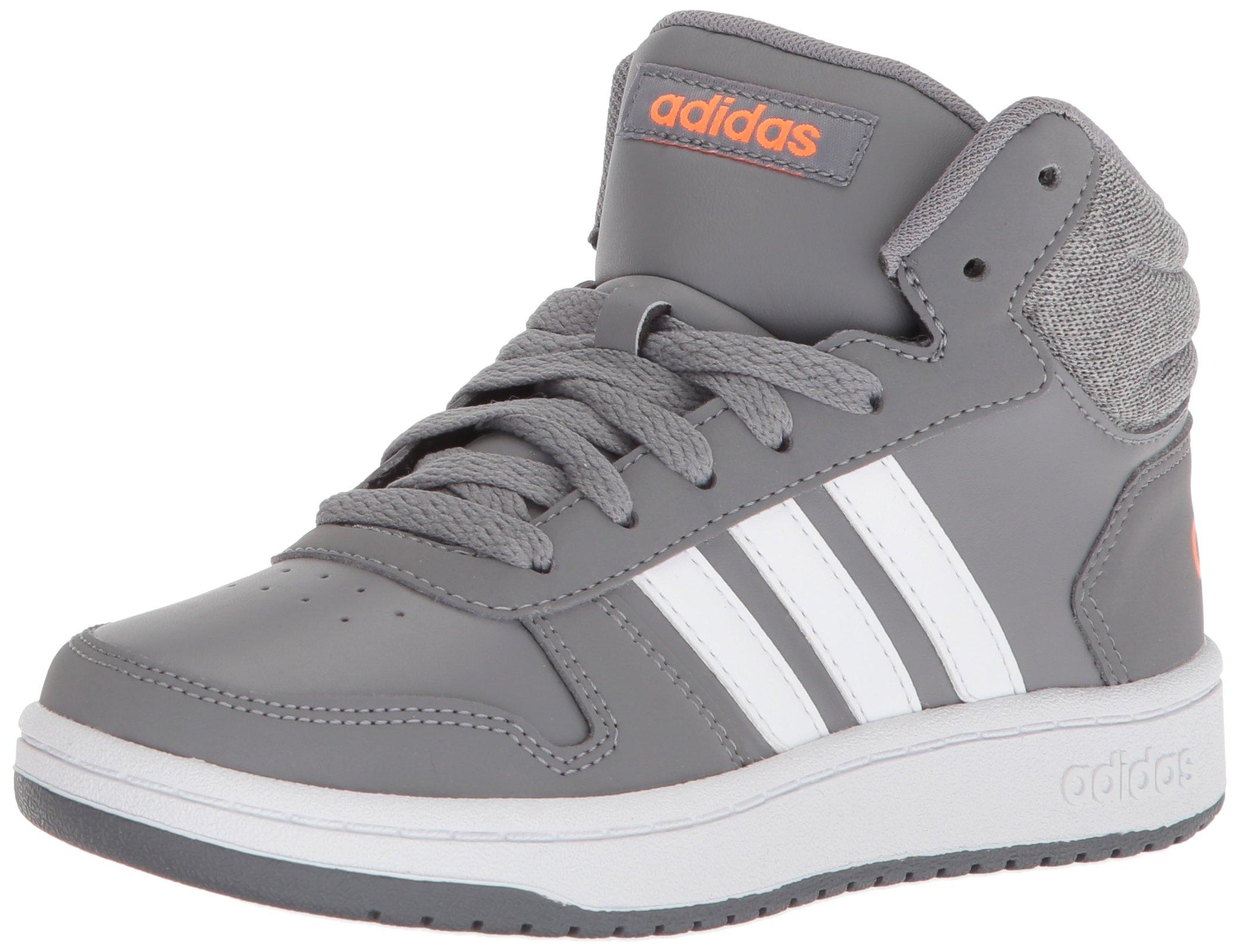 best sneakers ca08b 0a540 Galleon - Adidas Kids  Hoops Mid 2.0, Grey Three White Hi-Res Orange, 13 M  US Little Kid