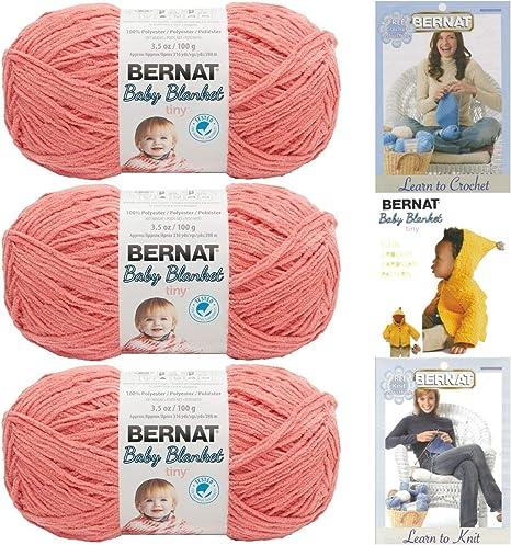 3512 Baby Peach Bernat BABY BLANKET CHUNKY Polyester Knitting Yarn 100g