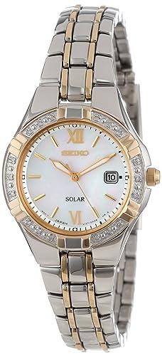 """Amazon.com: Reloj Seiko para mujer SUT068 """"Solar ..."""