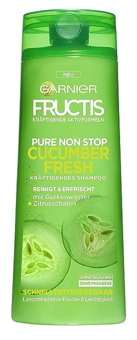 Garnier Fructis Pure Non Stop Cucumber Fresh Shampoo Reinigt