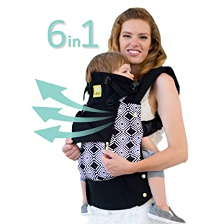 """SIX-Position, 360° Ergonomic Baby & Child Carrier by LILLEbaby – The COMPLETE All Seasons (Black""""Soho"""")"""