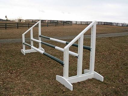 Amazon Com Triple Bar Standards Wood Horse Jumps 5ft