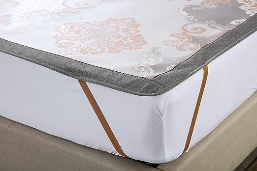 MarCielo 3 Piece Ice Silk Mat Set Ice Silk Sleeping Mattress Mat Summer Cool Mat