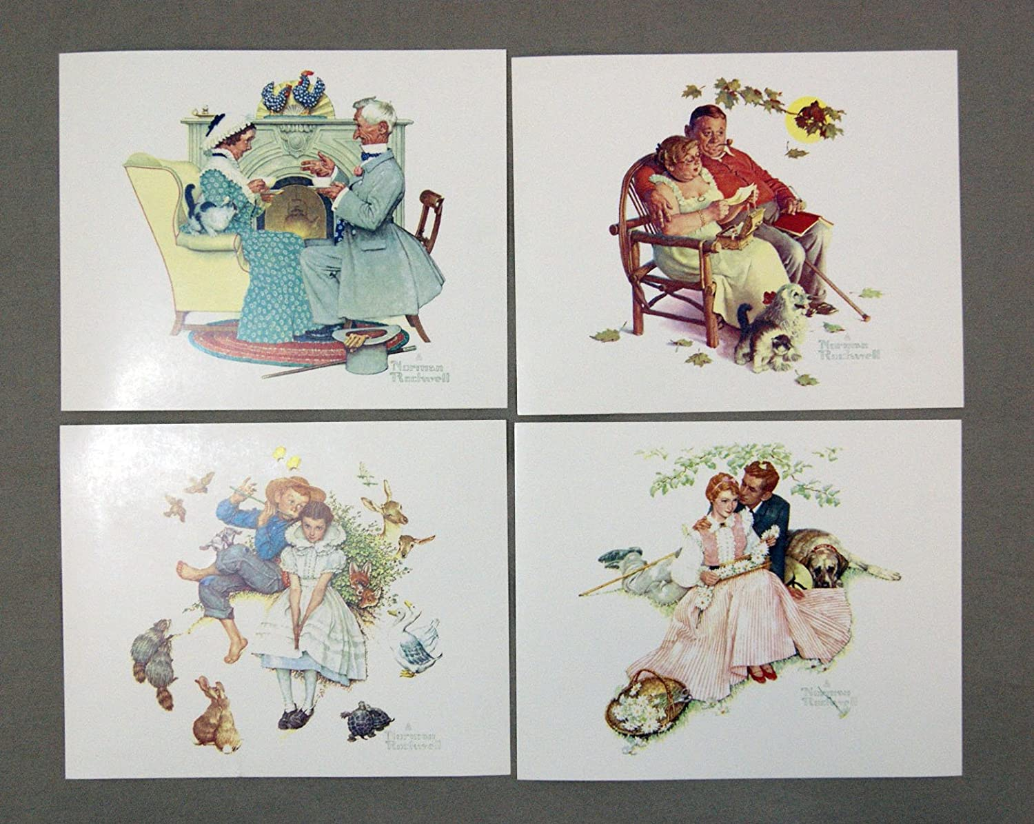 Vintage 1970/'s Norman Rockwell Fondly Do We Remember Four Seasons Series Print 1