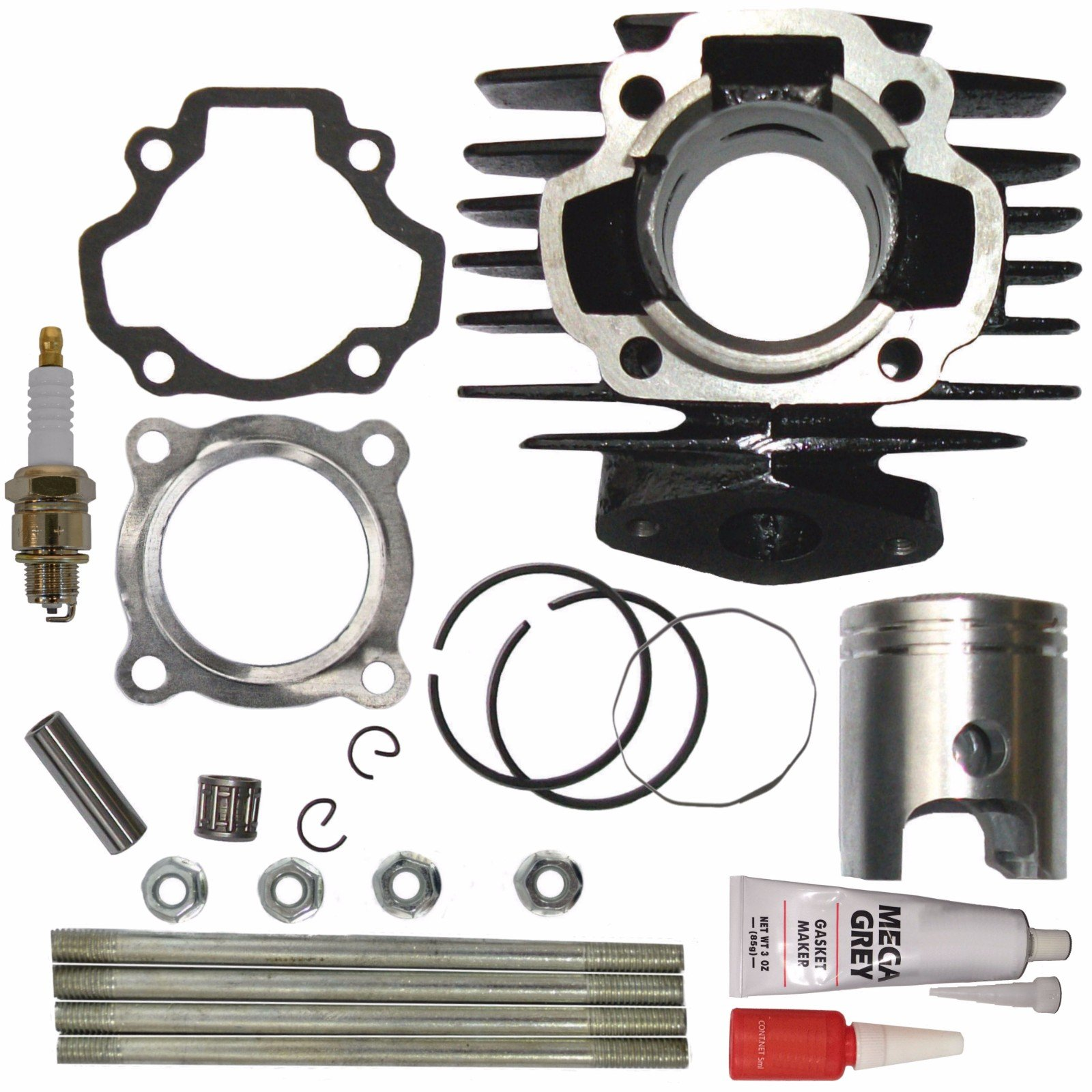 ZOOM ZOOM PARTS Cylinder FITS YAMAHA PW 50 PW50 QT 50 QT50 Piston Ring Gasket Top End Set Kit NEW by Zoom