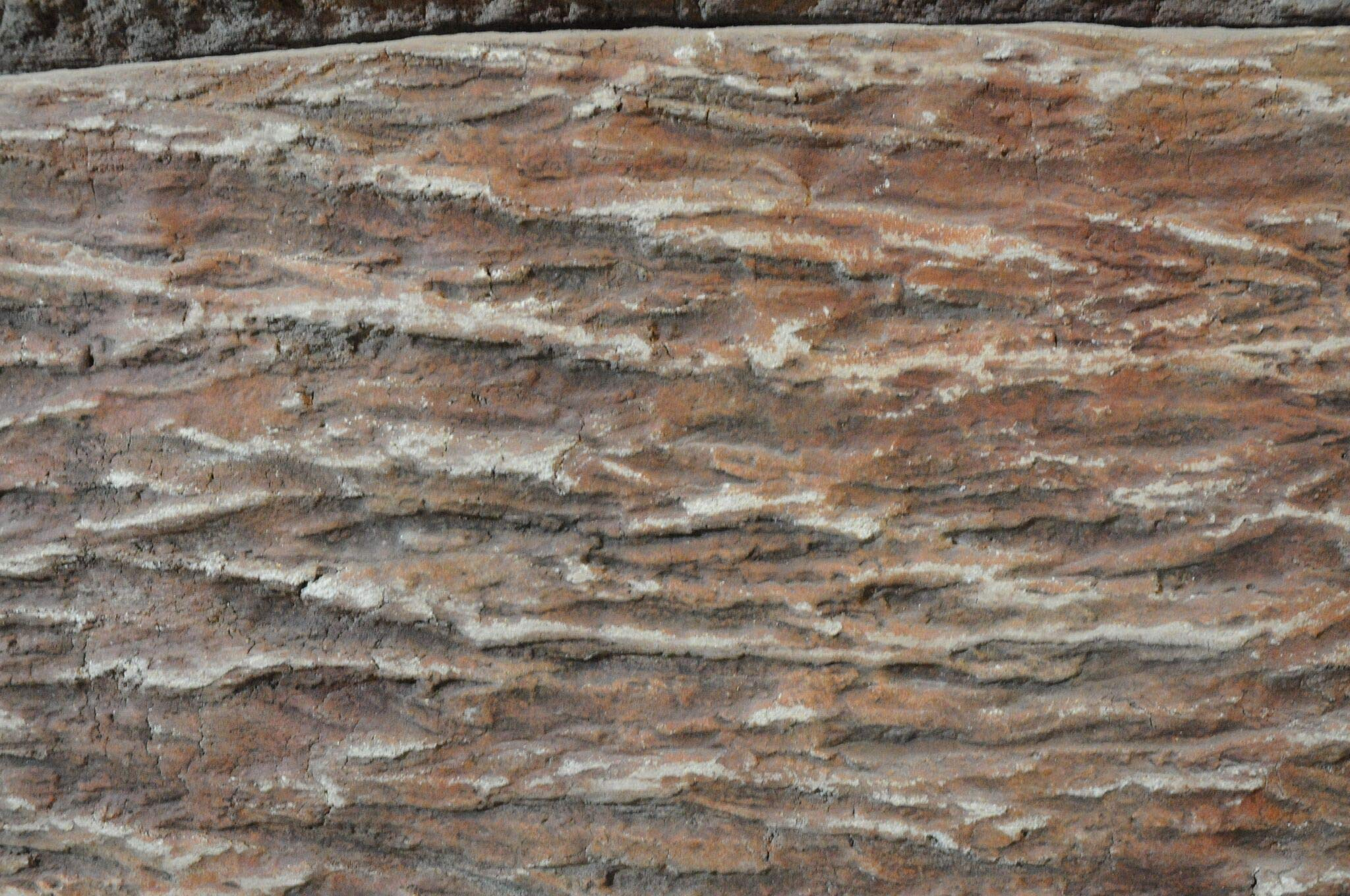 Heavy Bark Tru Tex Vertical Skin by Walttools | Wood Grain Heavy Texture Stamp Mat for Vertical Concrete by Walttools