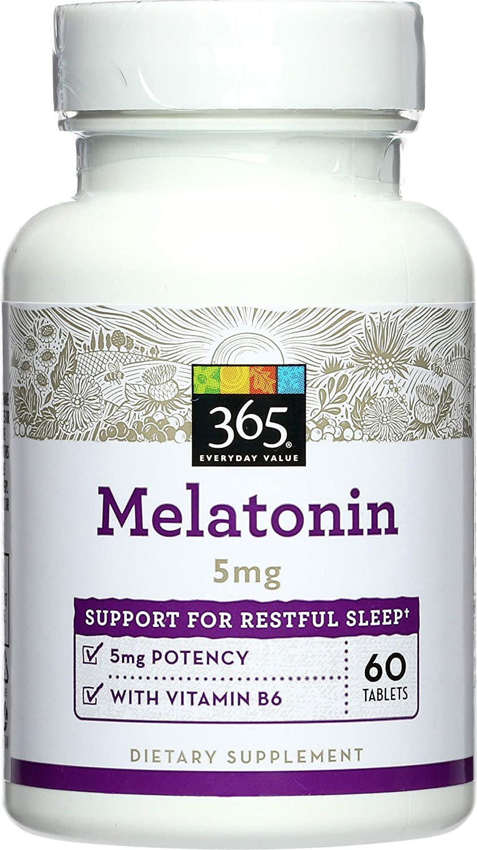 365 Everyday Value, Melatonin 5mg, 60 ct