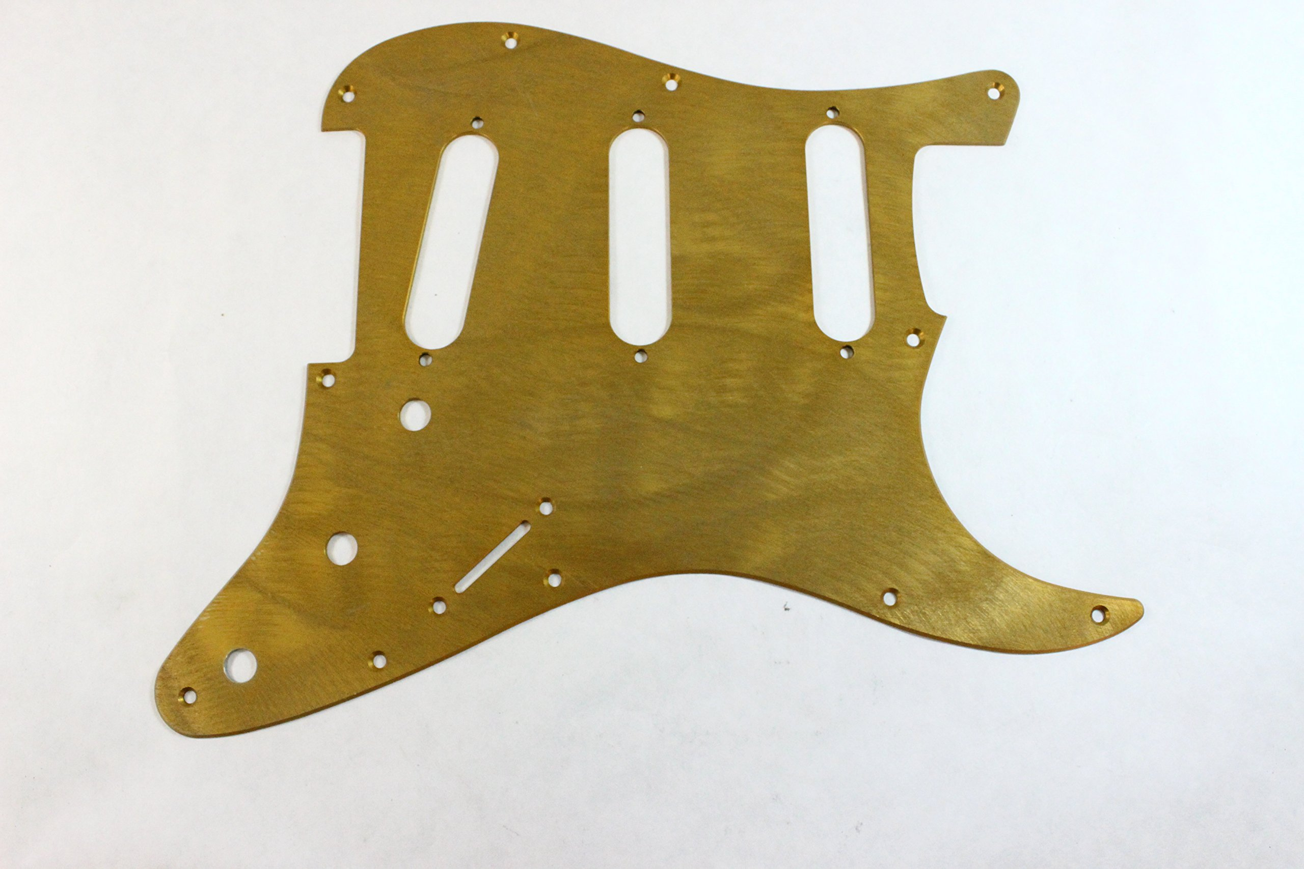 KAISH 11 Hole ST Strat SSS Metal Guitar Pickguard Aluminum Scrach Plate for USA//Mexican Fender Stratocaster Silver