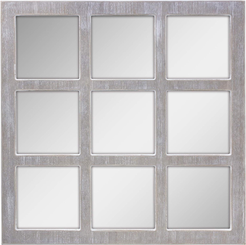 Stonebriar Square Rustic 9 Panel Mirror