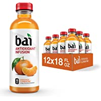 Flavored Water, Costa Rica Clementine, Antioxidant Infused Drinks, 18 Fluid Ounce Bottles, Pack of 12