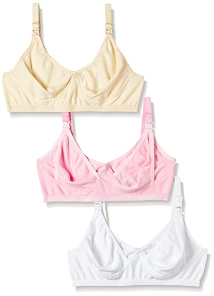 63ff9ee9f99fc Fabme Women s Non-Wired Nursing Bra (Pack of 3)  Amazon.in  Clothing    Accessories