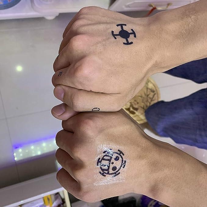 SenningAnime Portgas D Ace - Tatuaje temporal para cosplay, A4 ...
