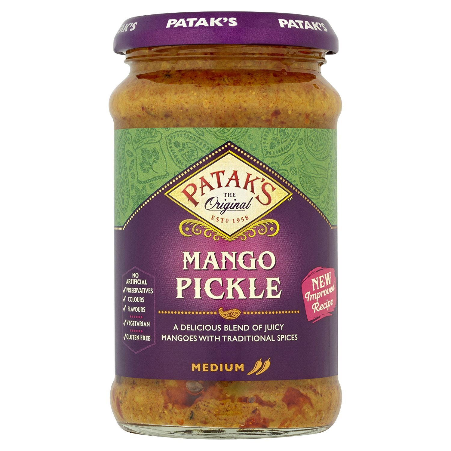 Patak's Mango Pickle - 283g (pack of 2)