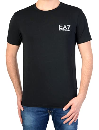 Emporio Armani EA7 T-shirt Black Train core id  Amazon.co.uk  Clothing f50e9287cb2