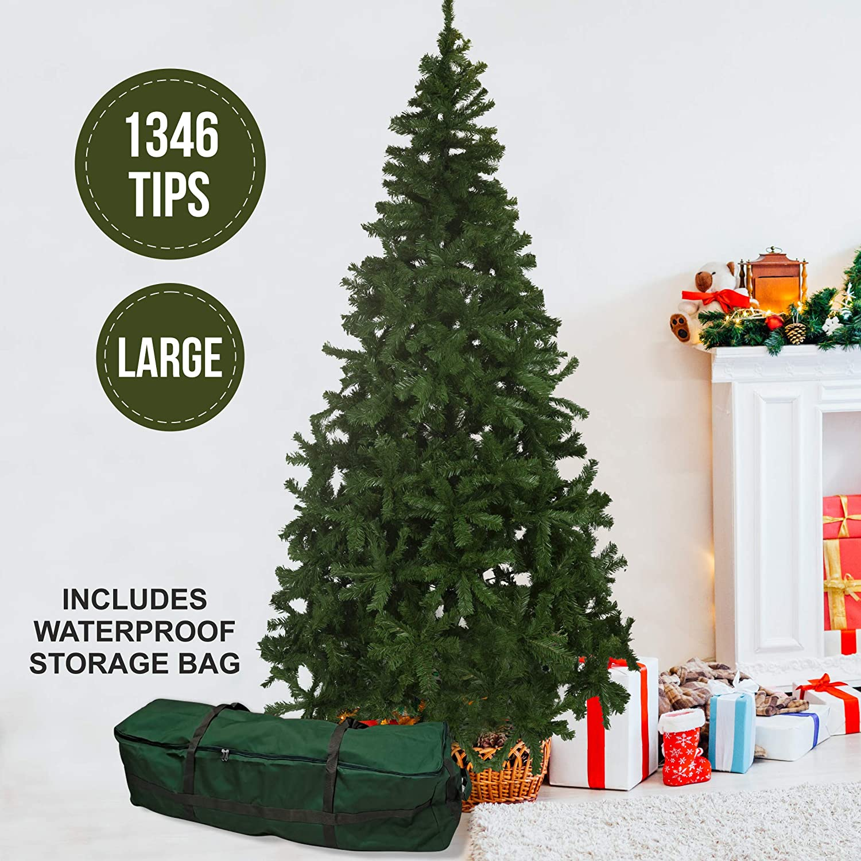 450 Luces LED Blancas c/álidas Olsen /& Smith 210 cm 1100 Puntas /árbol de Navidad de Pino Artificial preiluminado decoraci/ón de Bayas Rojas y pi/ña