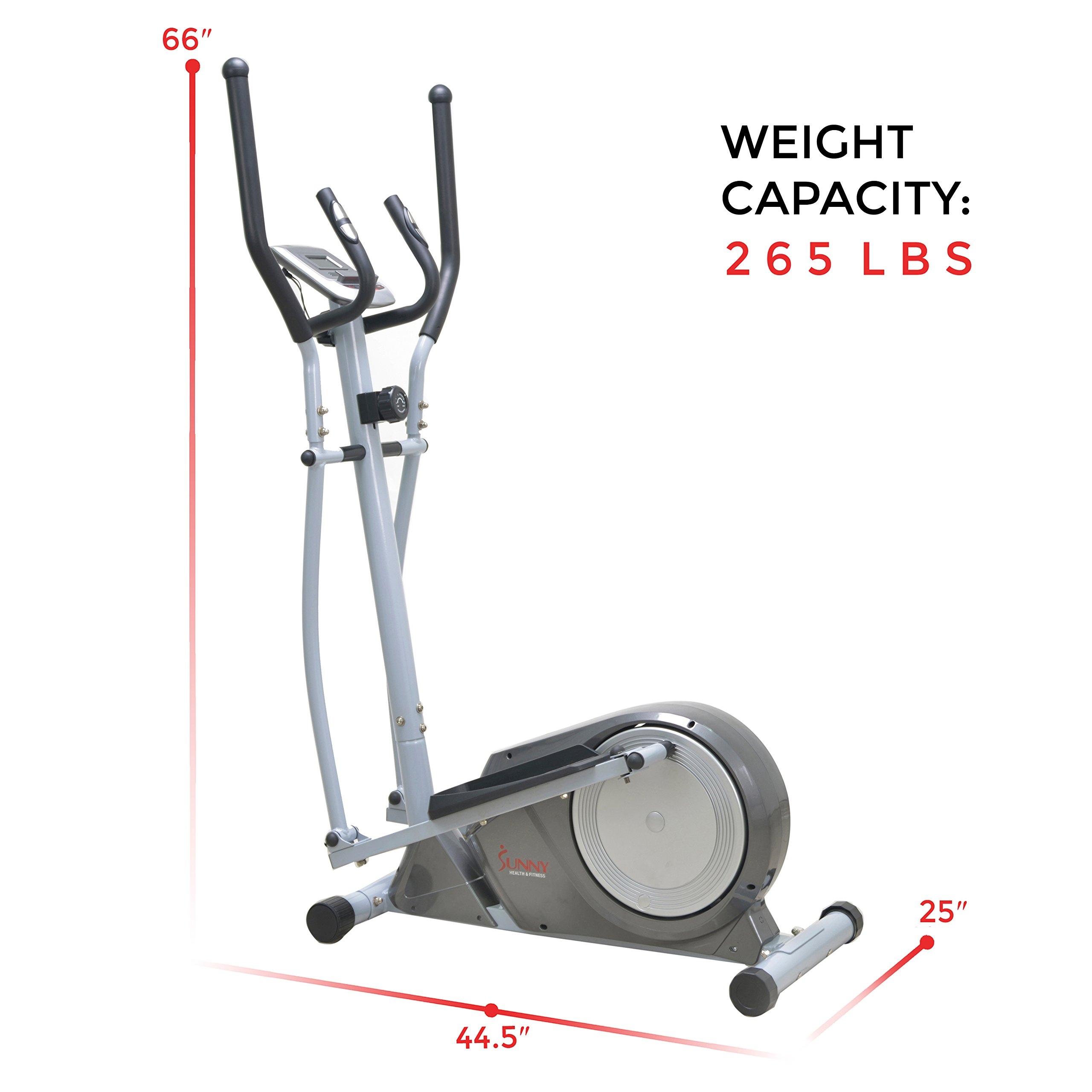 Sunny Health & Fitness SF-E3609 Magnetic Elliptical Trainer Elliptical Machine