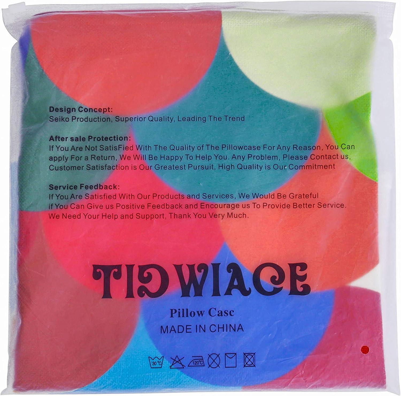 TIDWIACE/® Bleu Fonc/é Housse de Coussin D/écoratif pour Canap/é Chambre 18x18 Pouces 45x45 cm 4 pi/èces