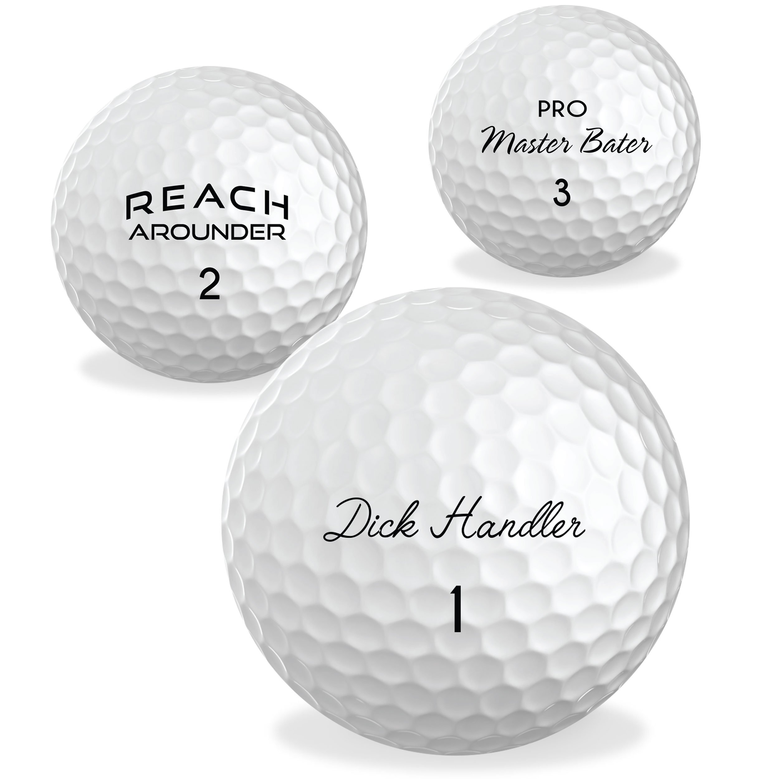 O'Rinn Ultimate Glory Prank Golf Balls - Sleeve, 3 Novelty Golf Balls. Perfect for Bachelor Parties, White Elephant Gifts, or just to Add Extra Fun to Your Game! by O'Rinn Golf