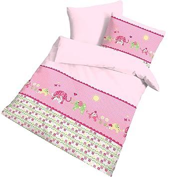 Elefant Fein Biber Babybettwäsche Kinderbettwäsche Mädchen Happy