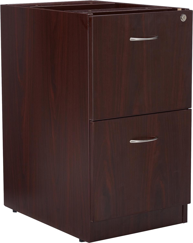 Lorell LLR69605 69000 Series Free Standing Fixed Pedestals, Mahogany
