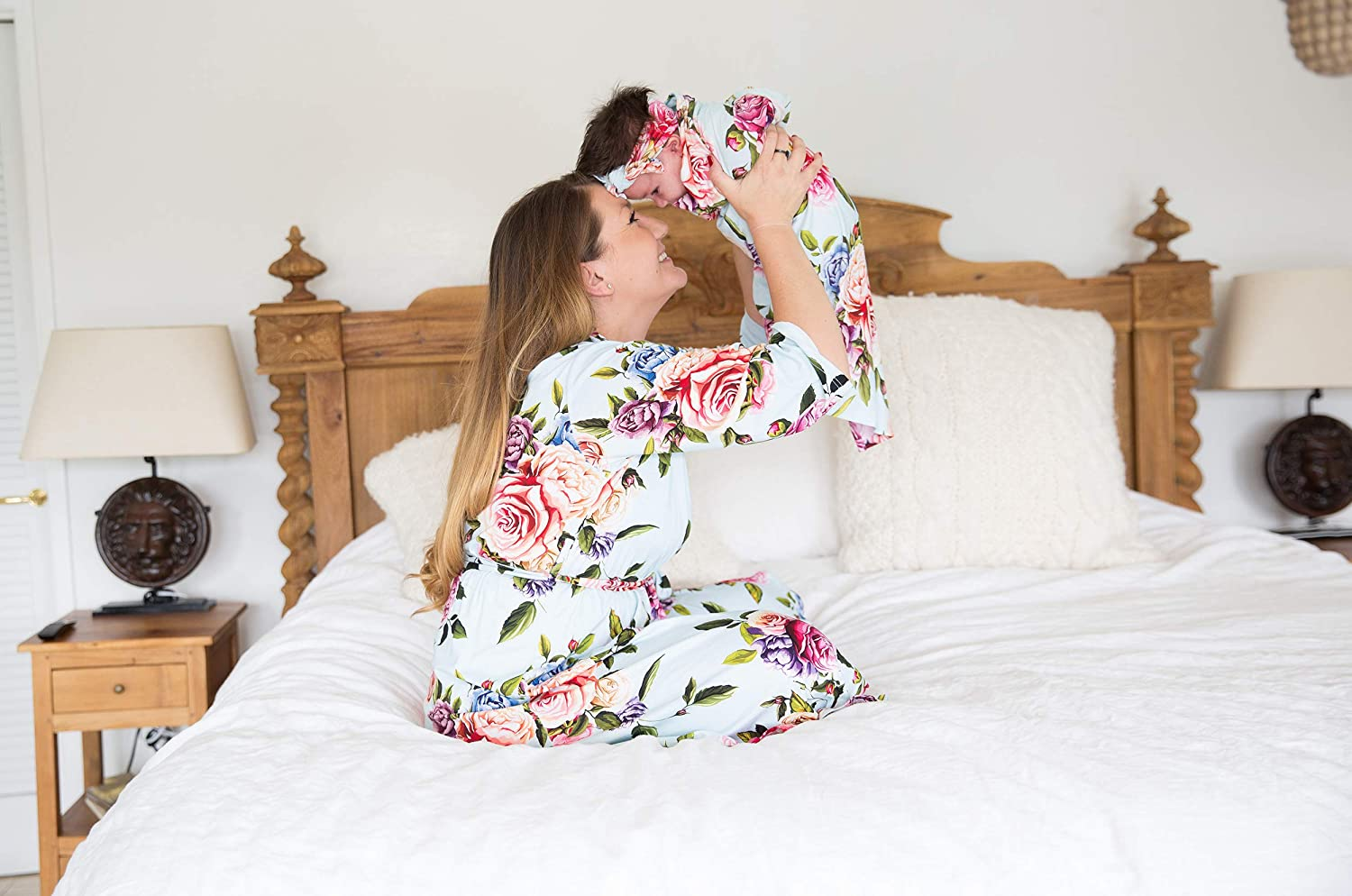 32 by 32 Makes The Receiving and Laps Posh Peanut Baby Floral Blanket Toddler Soft Blankie with Satin Binding for Infants Toddlers /& Kids for Use in Cribs 32 by 32 Beds Strollers 5926375 Makes The
