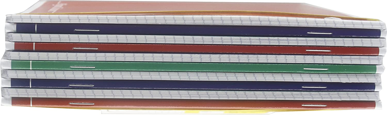 Rigatura 5M quadretti 5 mm per 2/° e 3/° elementare Carta 80g//mq Pigna Colours 02136415M Quaderno formato A5 Colori assortiti Pacco da 10 Pezzi