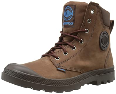 Palladium Mens Pampa Cuff WP Lux Rain Boot Chocolate