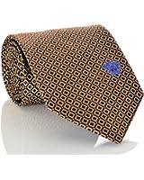 Versace Men's Geometrical Square Patterned Silk Necktie