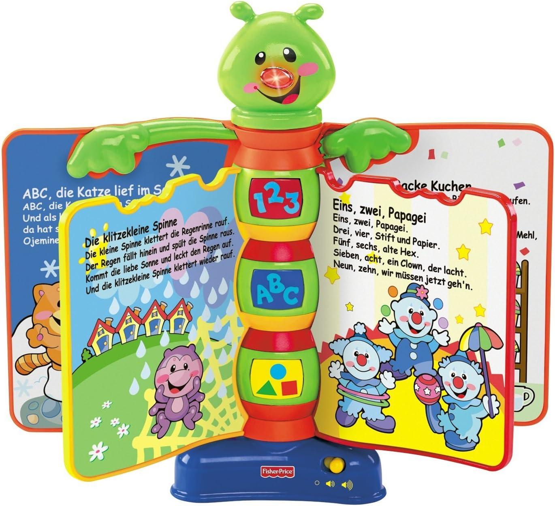 Fisher-Price - H8167-0 - Juego educativo con libro de canciones [versión en alemán] (Mattel): Amazon.es: Juguetes y juegos
