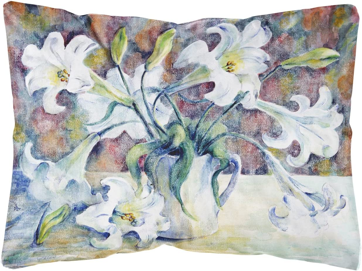 Caroline's Treasures GFGO0014PW1216 Easter Lillies Fabric Decorative Pillow