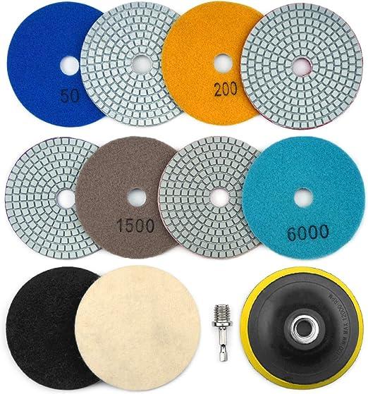 3 inch 4 inch Diamond Polishing Pad Backer Wet//Dry Granite Marble Concrete Stone