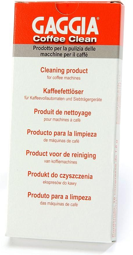 Amazon.com: Gaggia Coffee Clean Pastillas con sabor mejora ...
