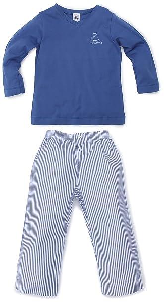 Petit Bateau - Pijama con cuello barco para niño, talla 2 Ans - talla francesa, color Varios colores (Paradisio/Espuma (Ecume)): Amazon.es: Ropa y ...