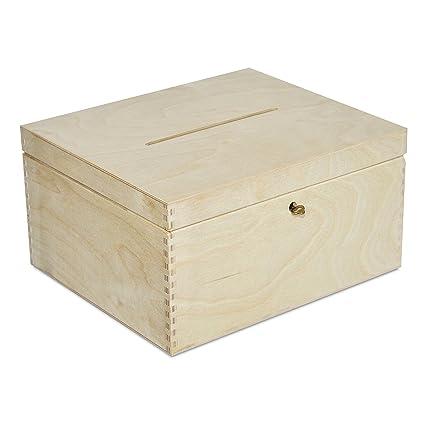 Boda Caja Madera | Cerradura y Llave | 29 x 25 x 15 cm | Cofre