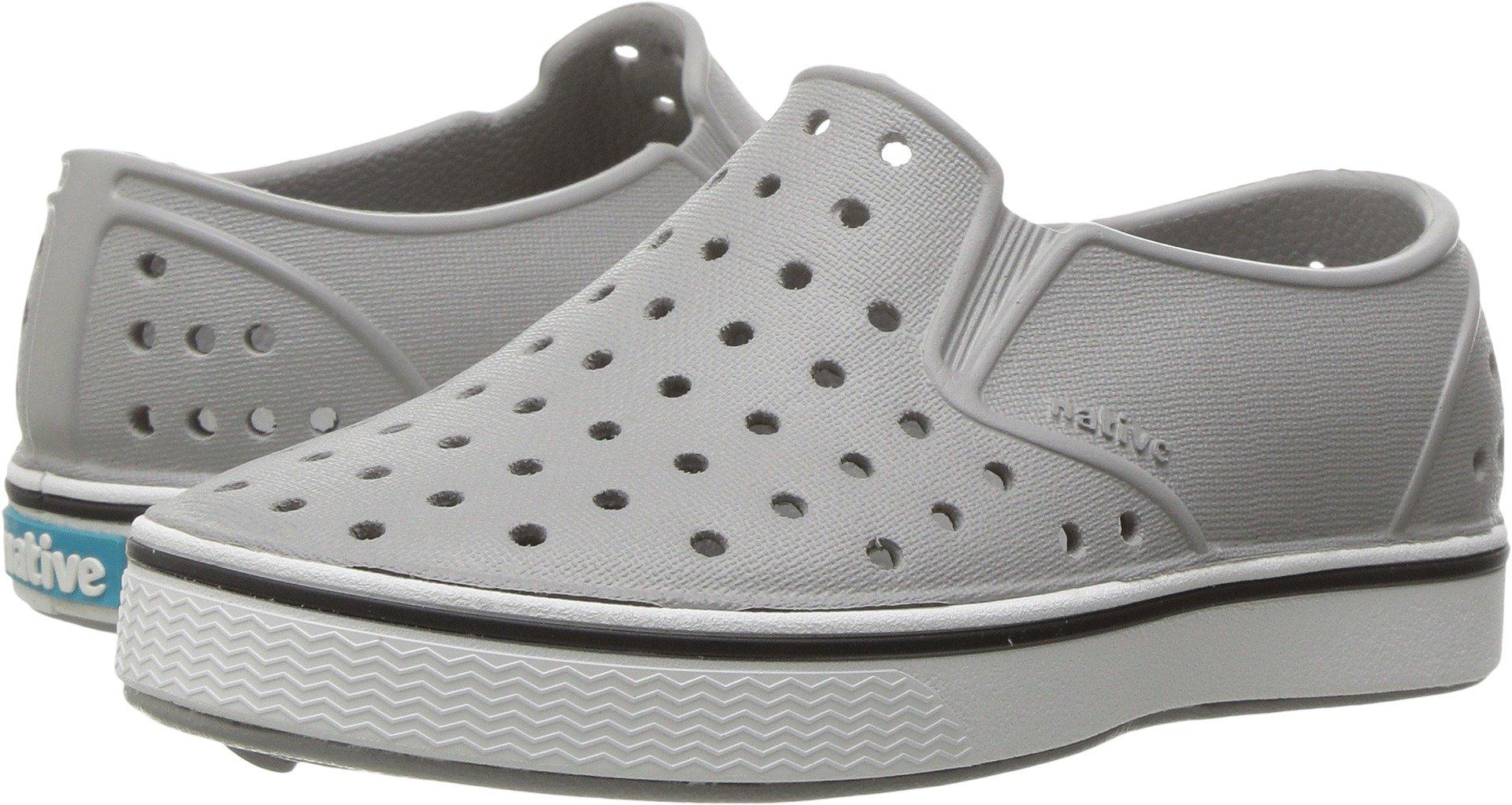 Native Kids Shoes unisex-baby Miles Water Shoe,pigeon grey/shell white,5 Medium US Toddler