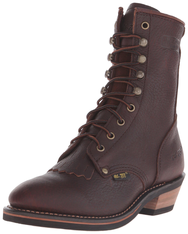 Adtec Women's 8 inch Packer Chestnut Work Boot, Chestnut, 7.5 M US