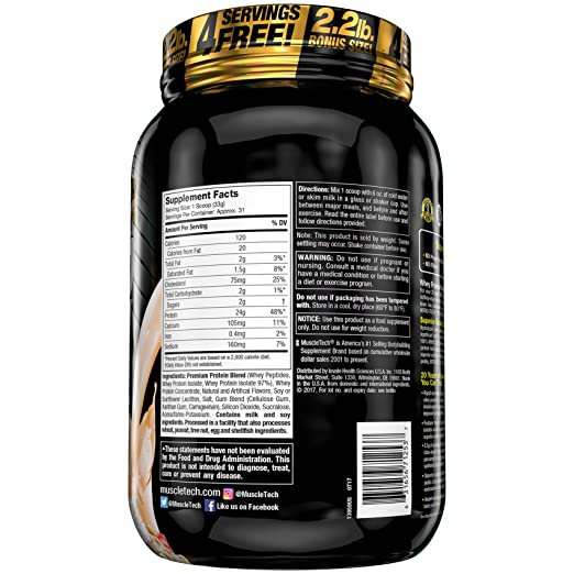 Amazon.com: MuscleTech Nitrotech Whey Gold/Isolate/Peptides, Dulce De Leche, 5.5 Pound: Health & Personal Care