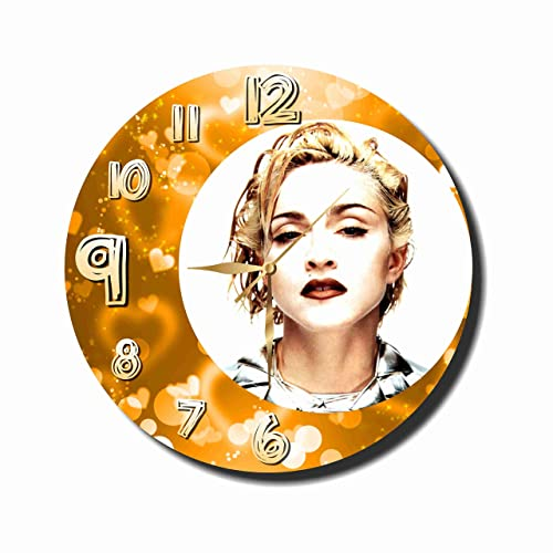 Original Handmade Wall Clock Madonna 11.8 Get Unique d cor for Home or Office Best Gift Ideas for Kids, Friends, Parents and Your Soul Mates