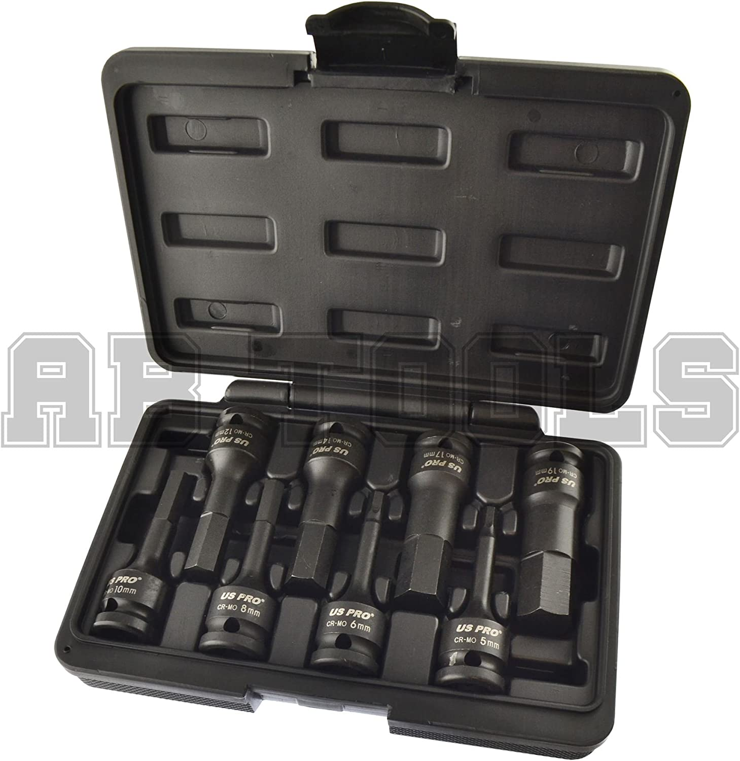 hex key bit impact socket set H5 H19 Metric Deep AT772 1//2 Drive Allen