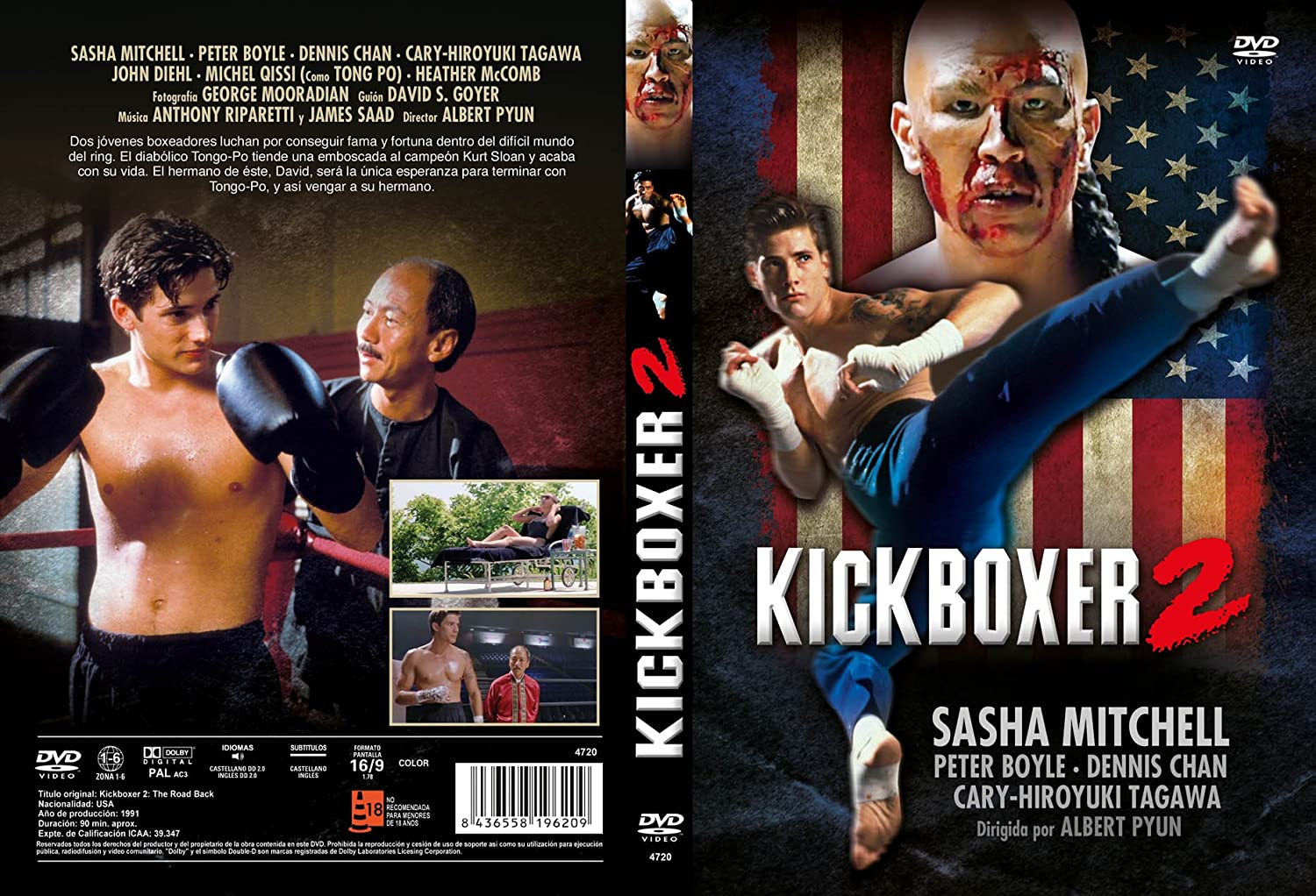 Kickboxer 2 DVD 1991: Amazon.es: Sasha Mitchell, Peter Boyle ...